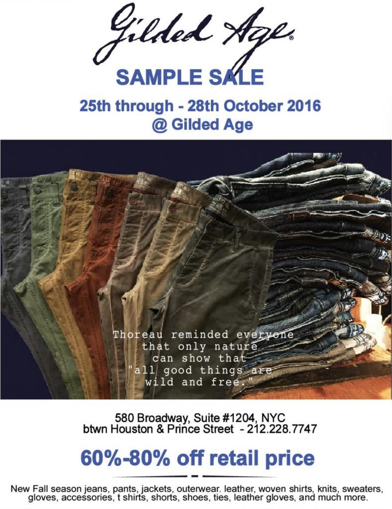 Gilded Age Sample Sale New York October 2017