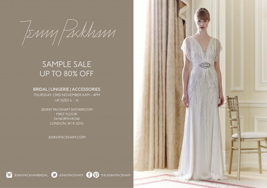 Jenny Packham Bridal Sample Sale London November 2017
