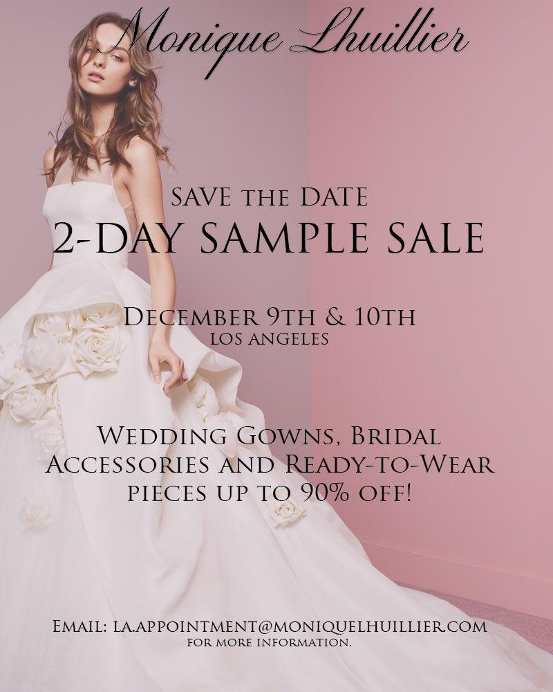 Monique Lhuillier Bridal & RTW Sample Sale, Los Angeles, December 2017