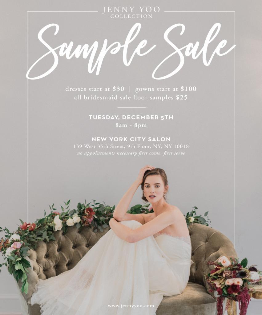 Jenny Yoo Sample Sale, New York, December 2017