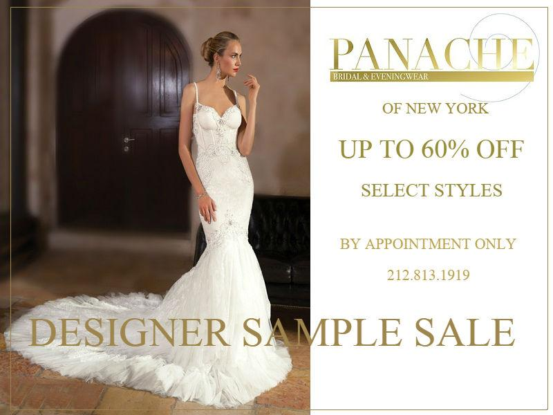 Panache Bridal Designer Sample Sale, New York, December 2017