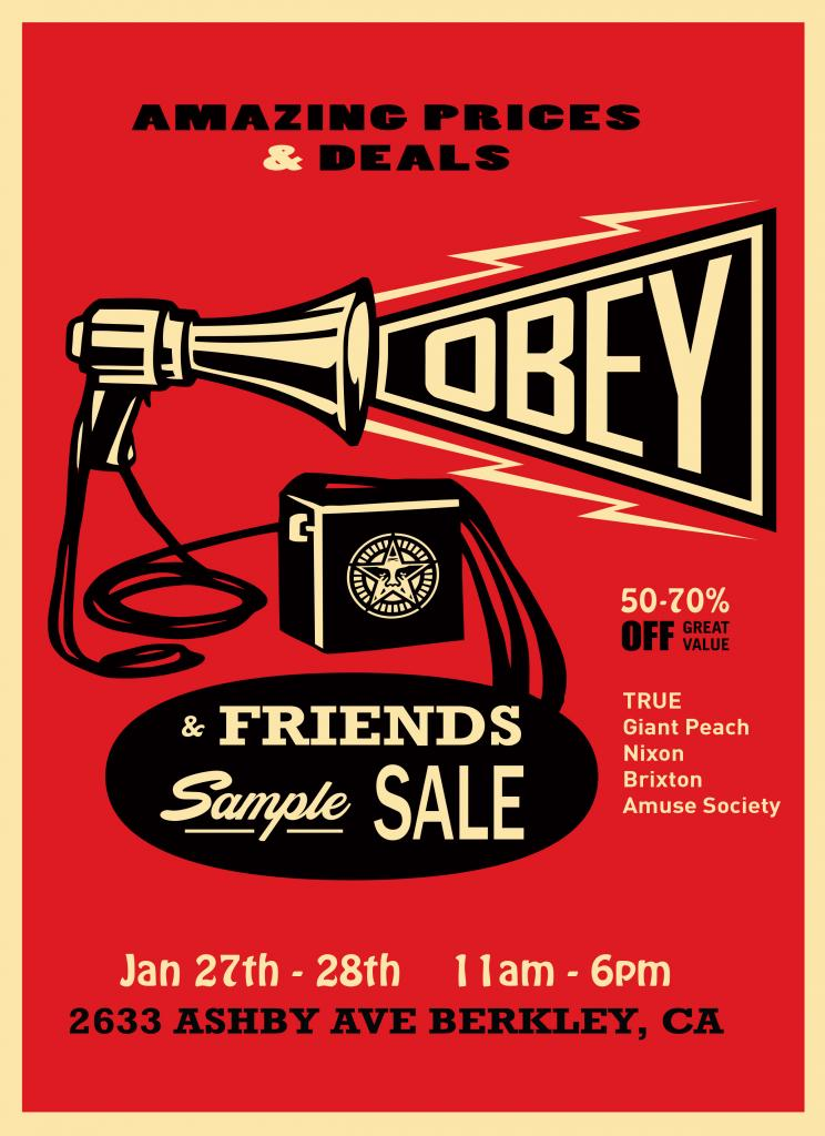 Obey & Friends Sample Sale, San Francisco, January 2018