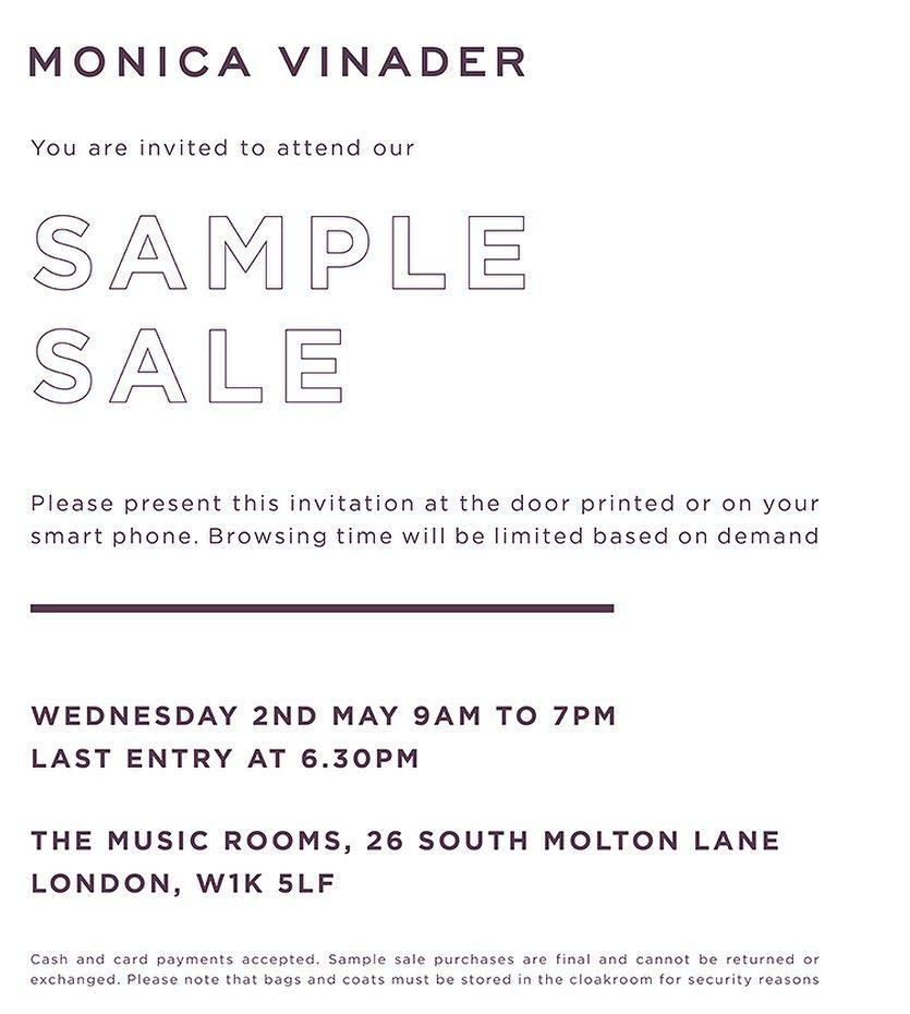 Monica vinader sample sale london may 2018 monica vinader sample sale stopboris Gallery
