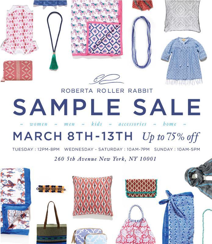 Roberta Roller Rabbit Sample Sale, New York, March 2016