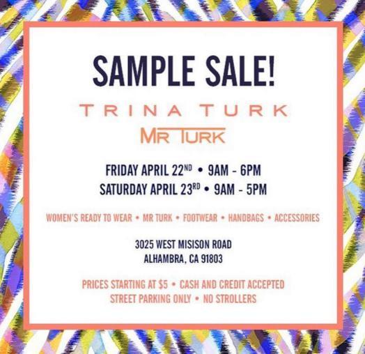 Trina Turk Sample Sale, Los Angeles, April 2016