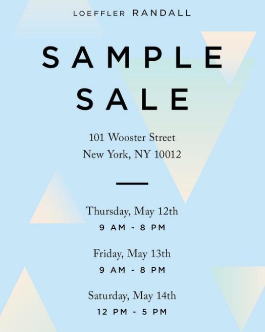 Loeffler Randall Sample Sale, New York, May 2016