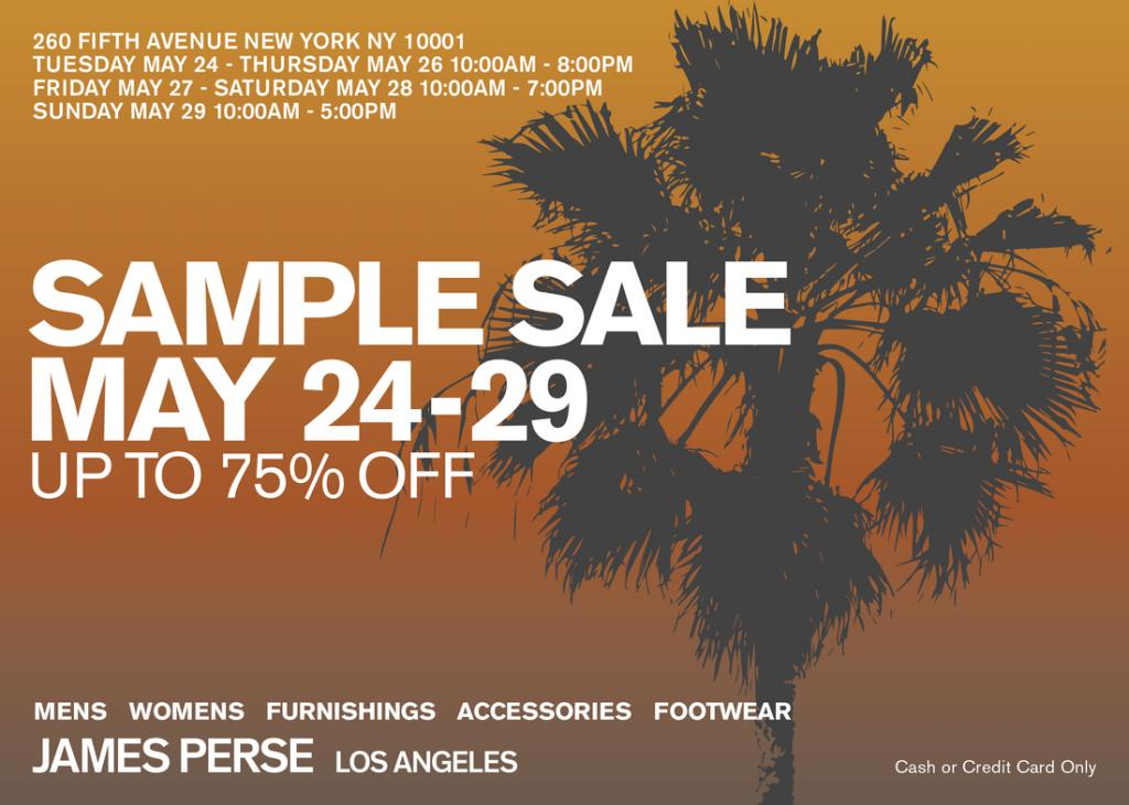 James Perse Sample Sale, New York, May 2016