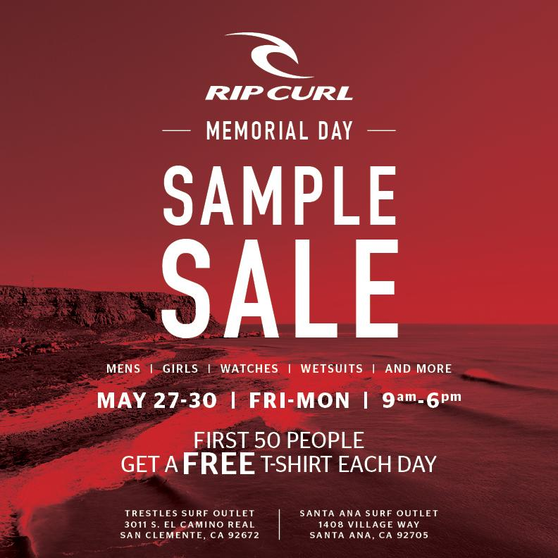 Rip Curl Memorial Day Sample Sale, Los Angeles, May 2016