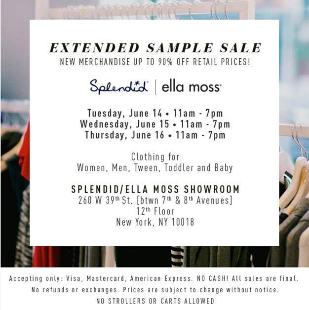 splendid ella moss sample sale - Bcbg Sample Sale