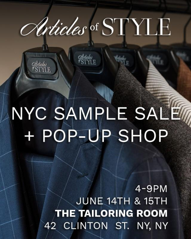 Articles of Style Sample Sale, New York, June 2016