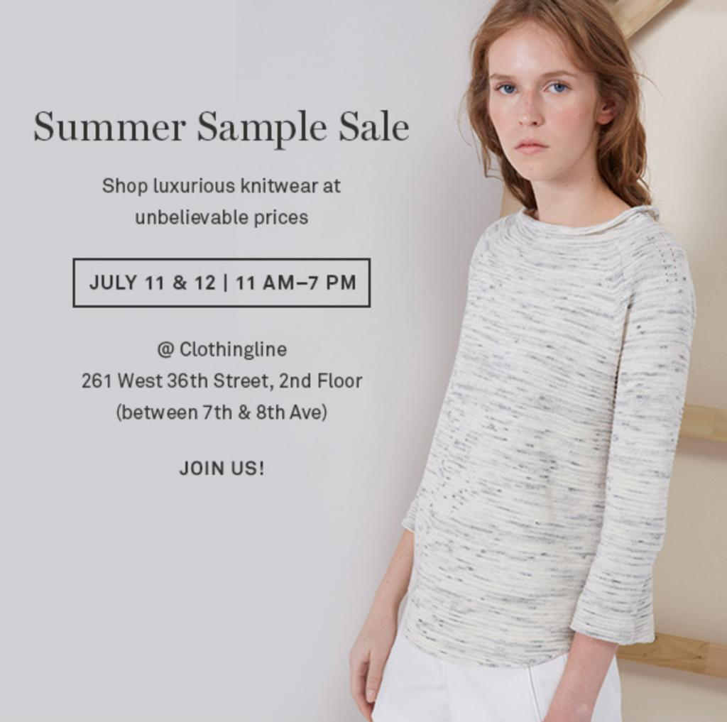 Clothingline Blowout Sample Sale, New York, July 2016