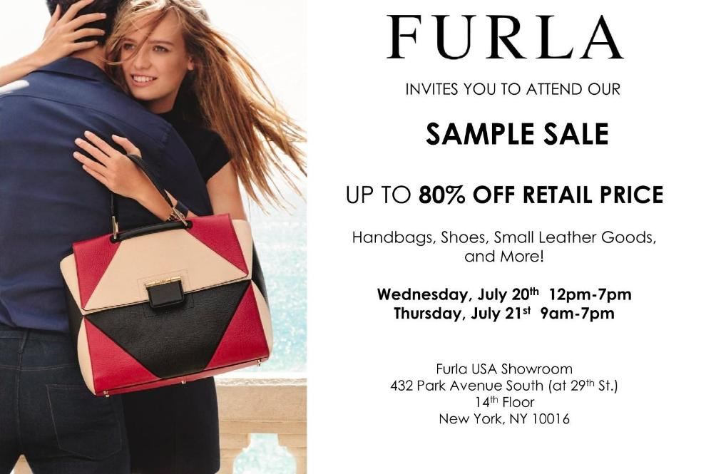 Furla Sample Sale, New York, July 2016