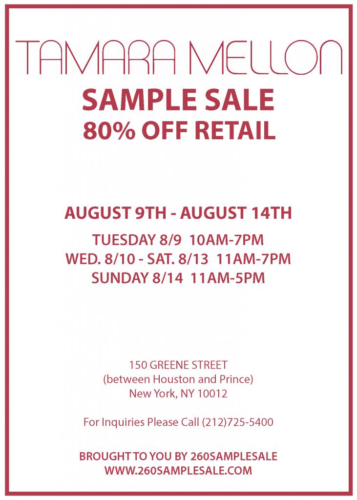 Lulu Frost x Tamara Mellon Sample Sale, New York, August 2016