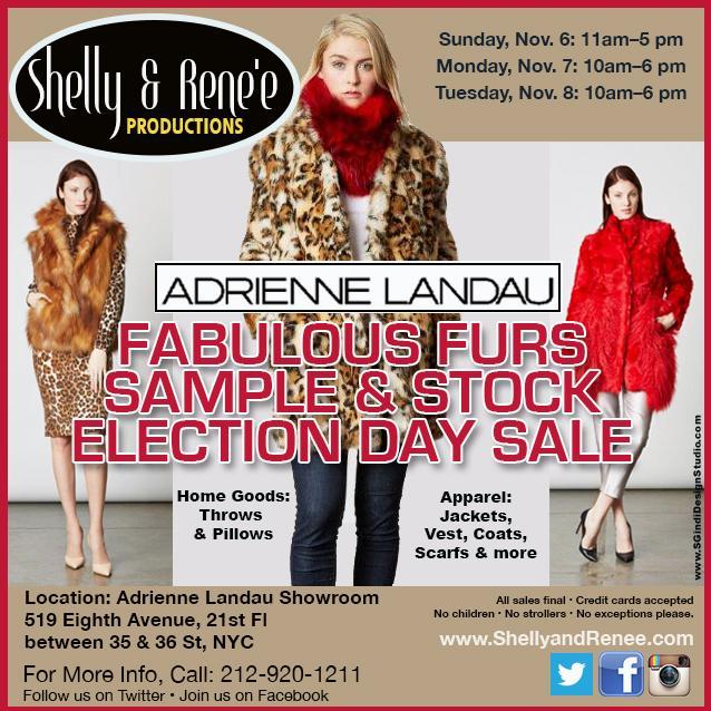 Adrienne Landau Sample & Stock Sale, New York, November 2016