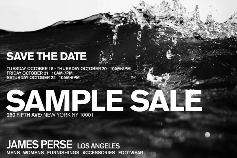 James Perse Sample Sale, New York, October 2016