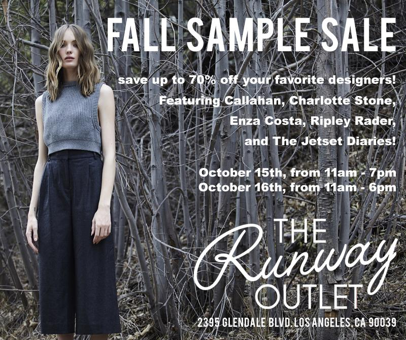 the runway outlet fall sample sale