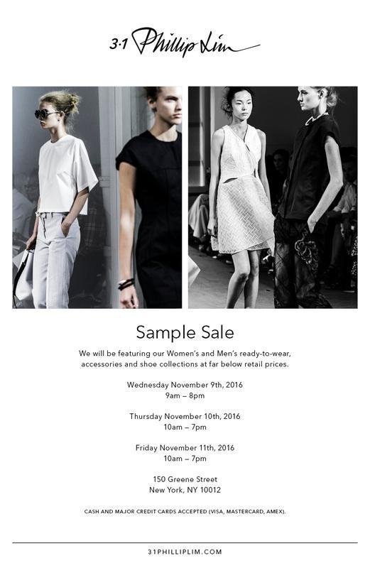 3.1 Phillip Lim Sample Sale, New York, November 2016