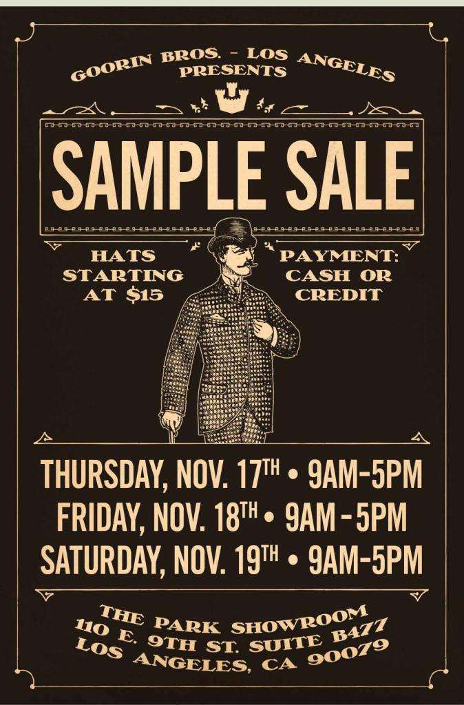 goorin bros sample sale