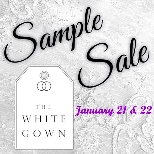 The White Gown Sample Sale New York January 2017
