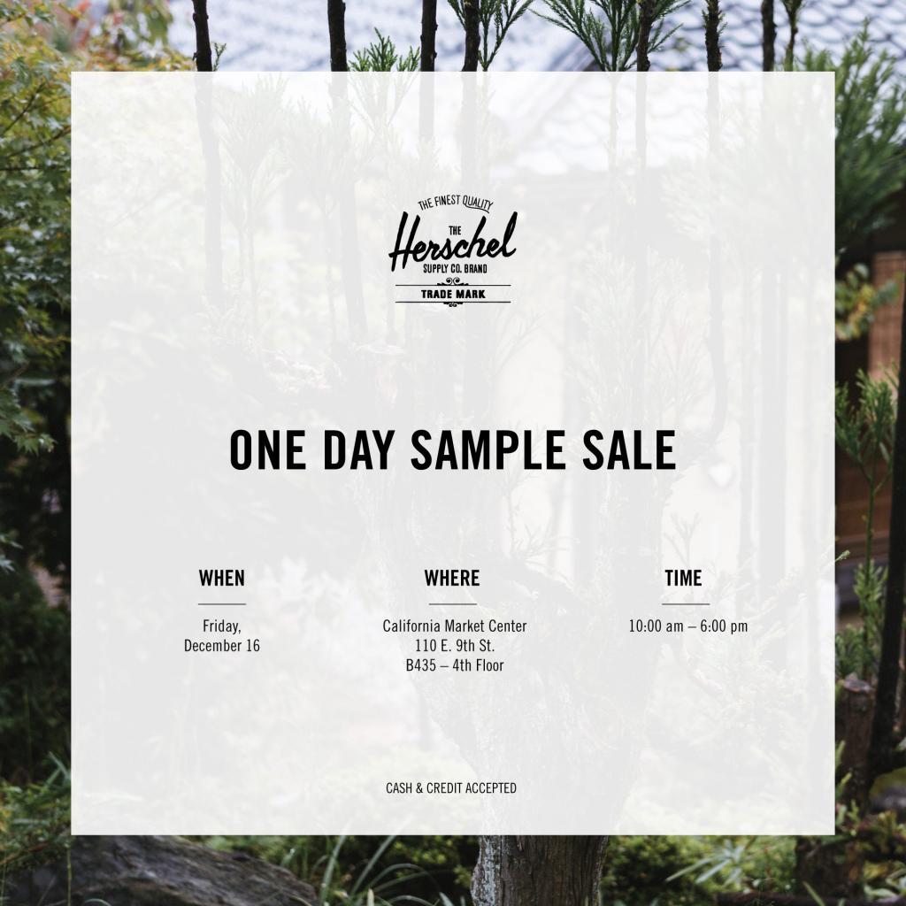 Herschel Supply Co Sample Sale, Los Angeles, December 2016