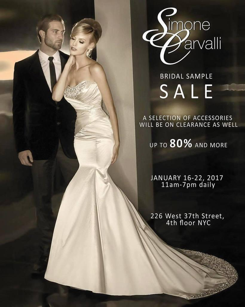 Simone Carvalli & Yumi Katsura Bridal Sample Sale, New York, January ...