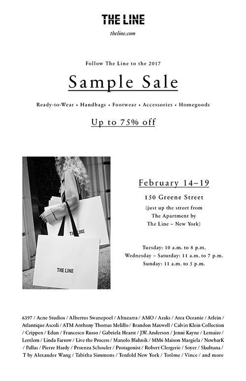 The Line Sample Sale, New York, February 2017