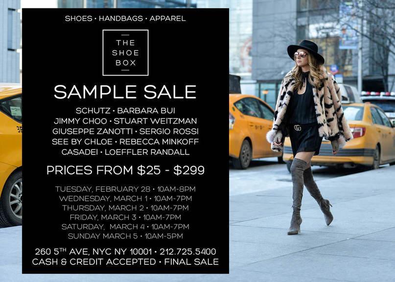 The Shoe Box Sample Sale, New York, February 2017