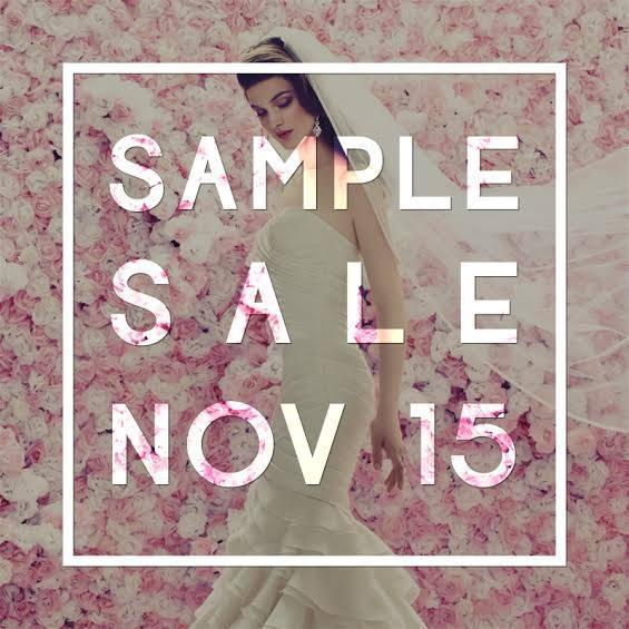 Designer Wedding Dress Sample Sale London November 2015