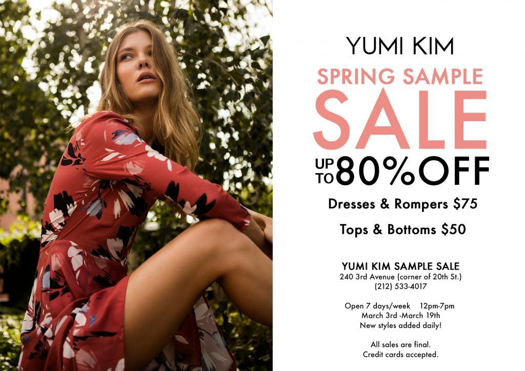 YUMI KIM Sample Sale, New York, March 2017