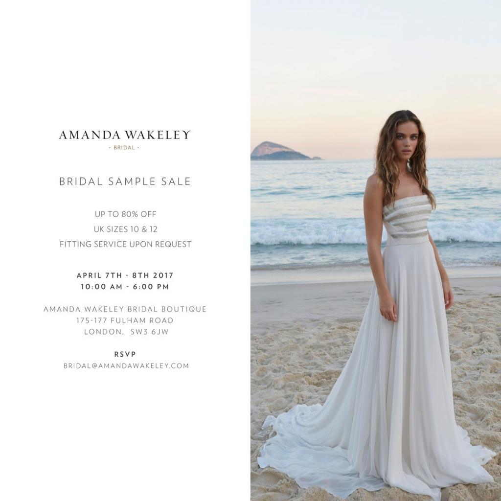 Amanda Wakeley Bridal Sample Sale, London, April 2017