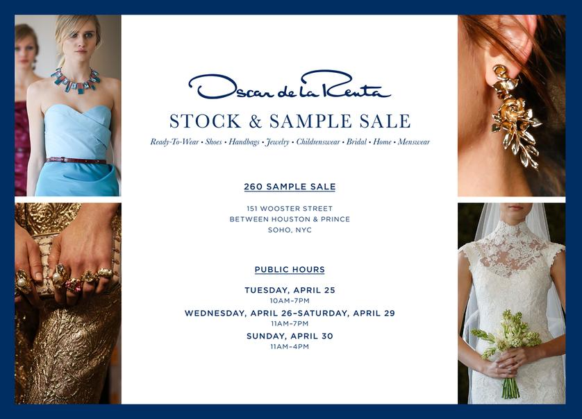 Oscar de la Renta Sample Sale, New York, April 2017