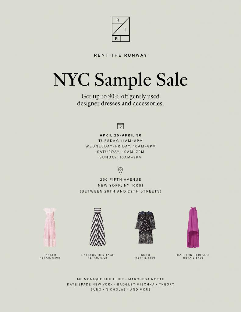Rent The Runway Sample Sale, New York, April 2017