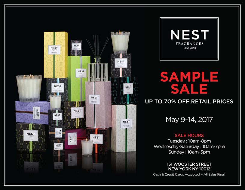 NEST x Sip by S'well Sample Sale, New York, May 2017