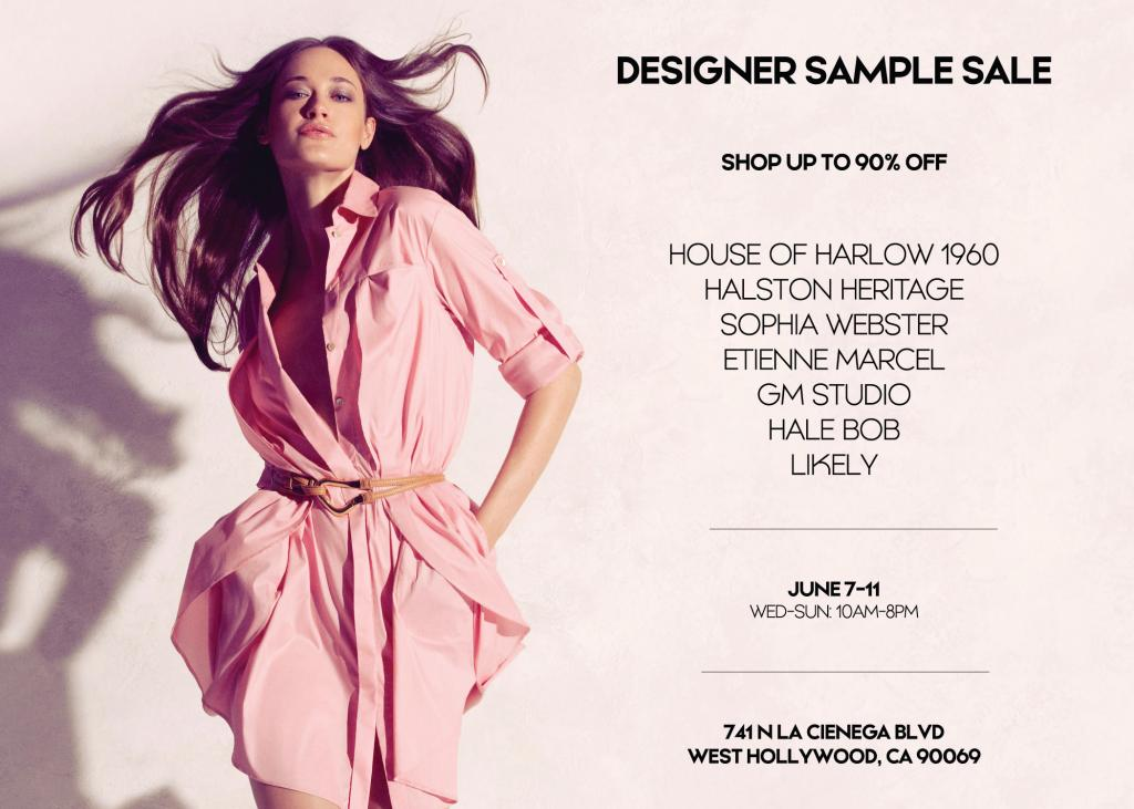 Multibrand Designer Sample Sale, Los Angeles, June 2017