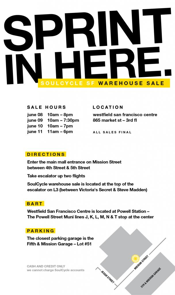 Soulcycle Sample Sale, San Francisco, June 2017