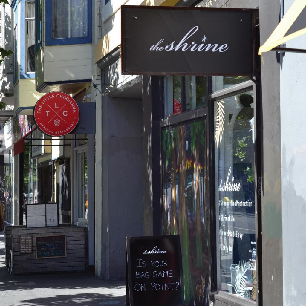 the shrine sample sale