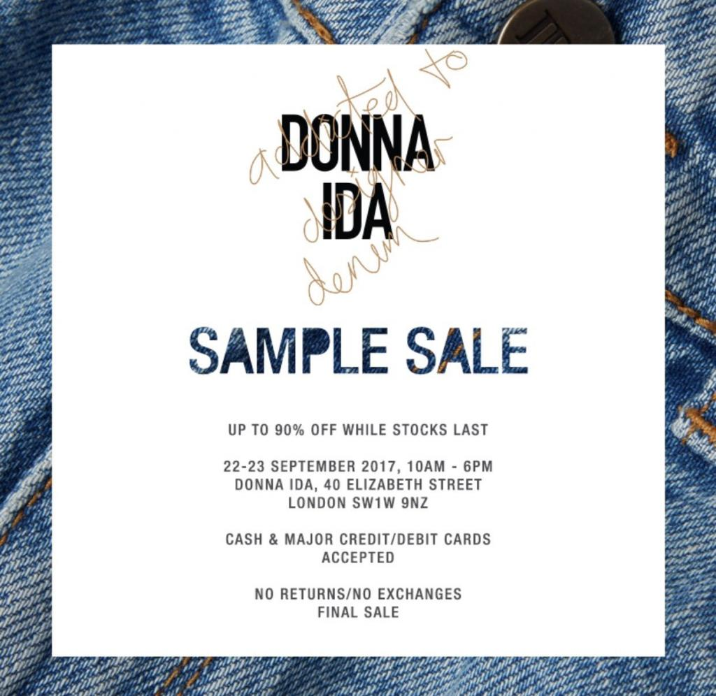 Donna Ida Sample Sale