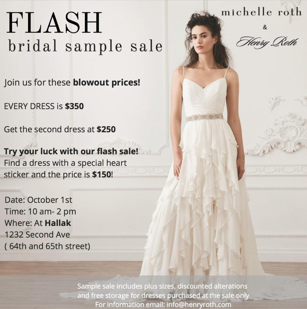 Michelle Roth & Henry Roth Bridal Sample Sale, New York