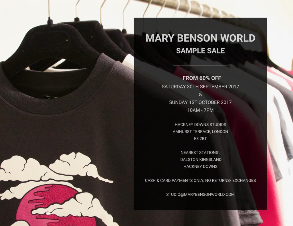 Mary Benson World Sample Sale