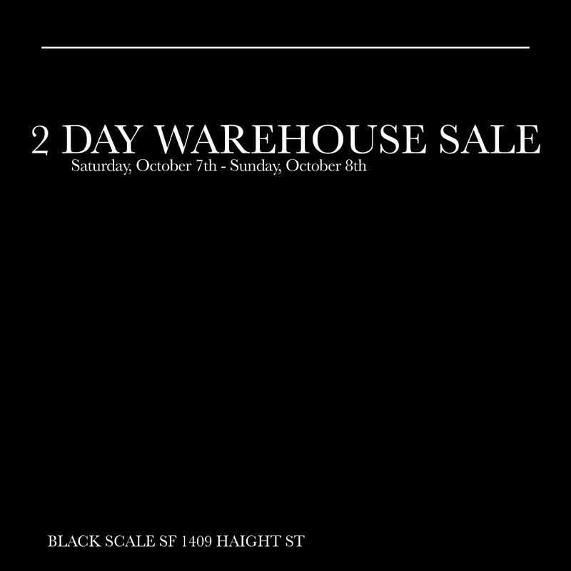 Black Scale Warehouse Sale