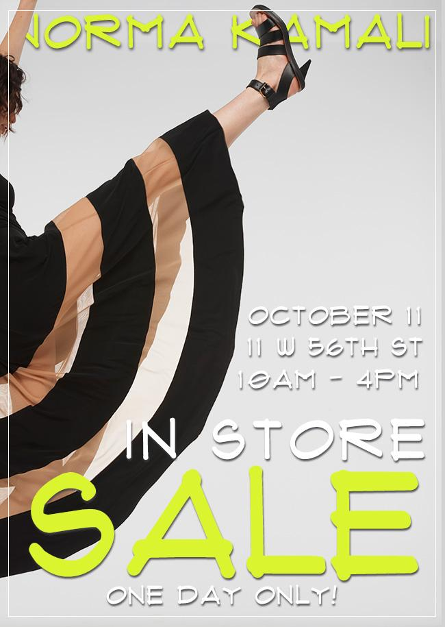 Norma Kamali In-Store Sale Event