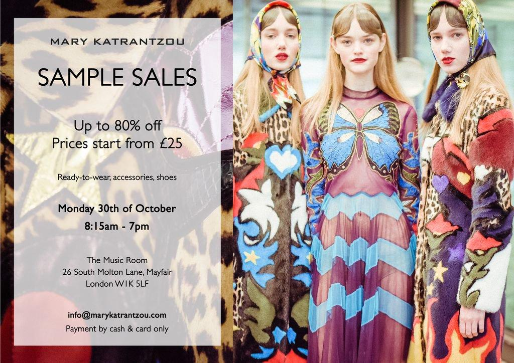 Mary Katrantzou Sample Sale