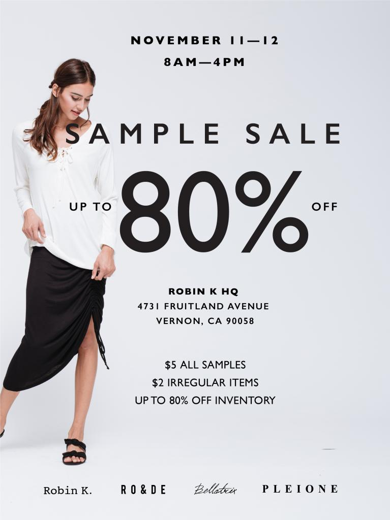 Robin K Inventory & Sample Sale
