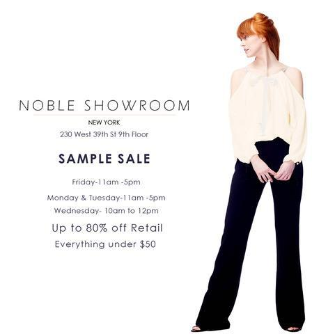 Noble Showroom Sample Sale