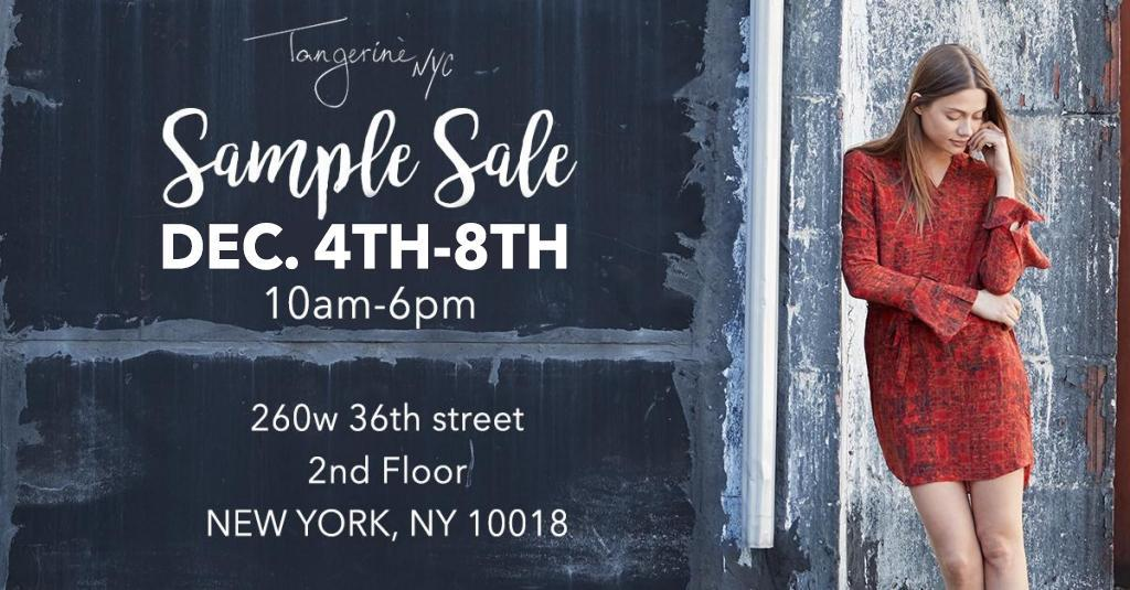 Tangerine NYC Holiday Sample Sale