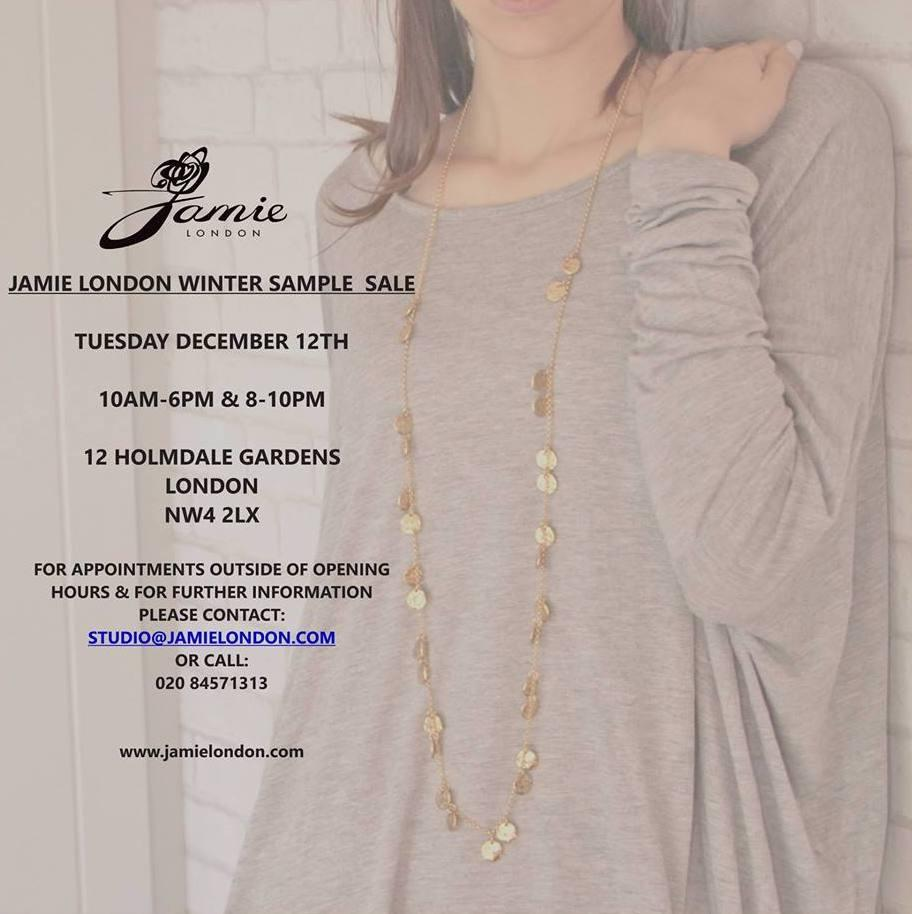 Jamie London Winter Sample Sale