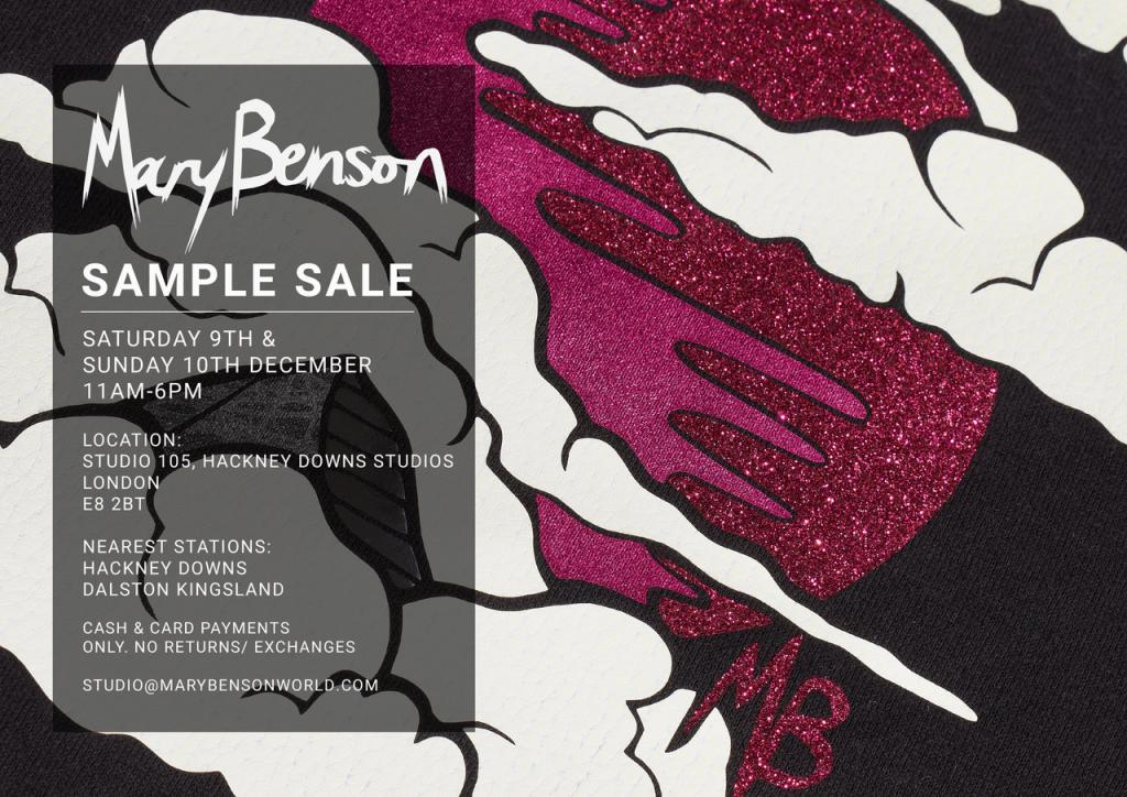 Mary Benson Sample Sale
