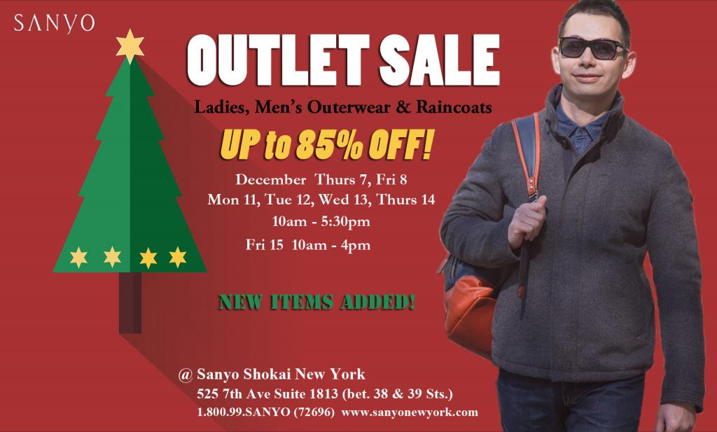 Sanyo NY Winter Holiday Outlet Sale