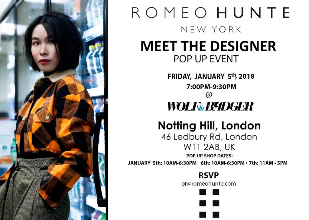 Romeo Hunte Meet The Designer Event