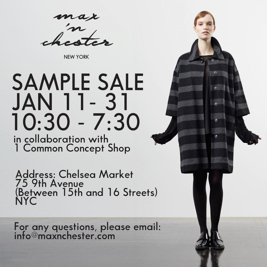 Max 'n Chester x 1 Common Sample Sale